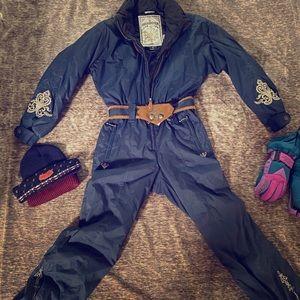 Obermeyer Snowsuit with Gloves, Beanie, & Headband